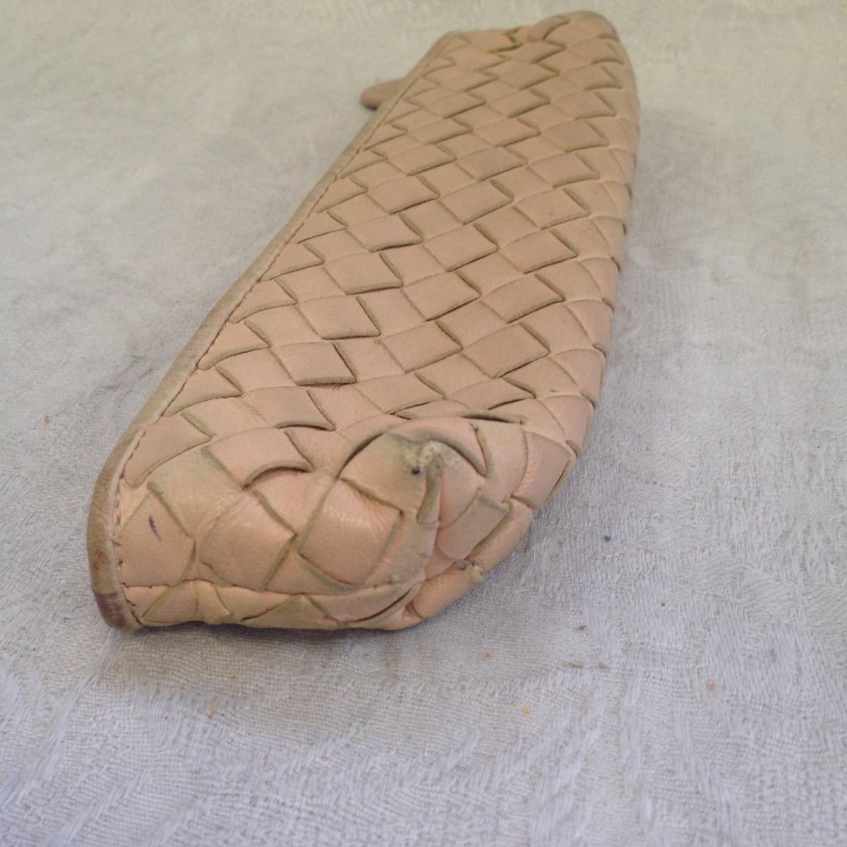 池袋 ペンケース ソファー、鞄、バッグ、修理、張替、黒ずみ汚れ、クリーニング、色移り、すれ傷  ベージュ ボッテガヴェネタ 16